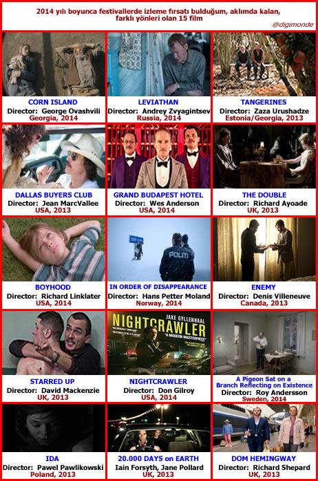 2014 yılından 15 yabancı film